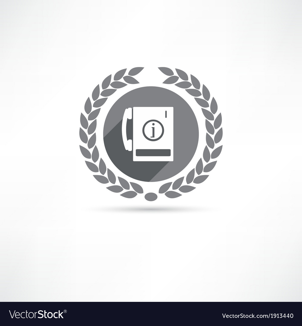 Telephone information icon vector | Price: 1 Credit (USD $1)