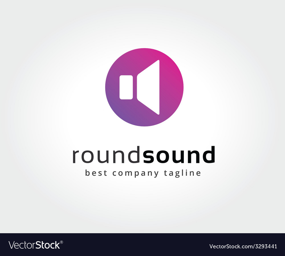 Abstract colored sound speaker logo icon concept vector   Price: 1 Credit (USD $1)