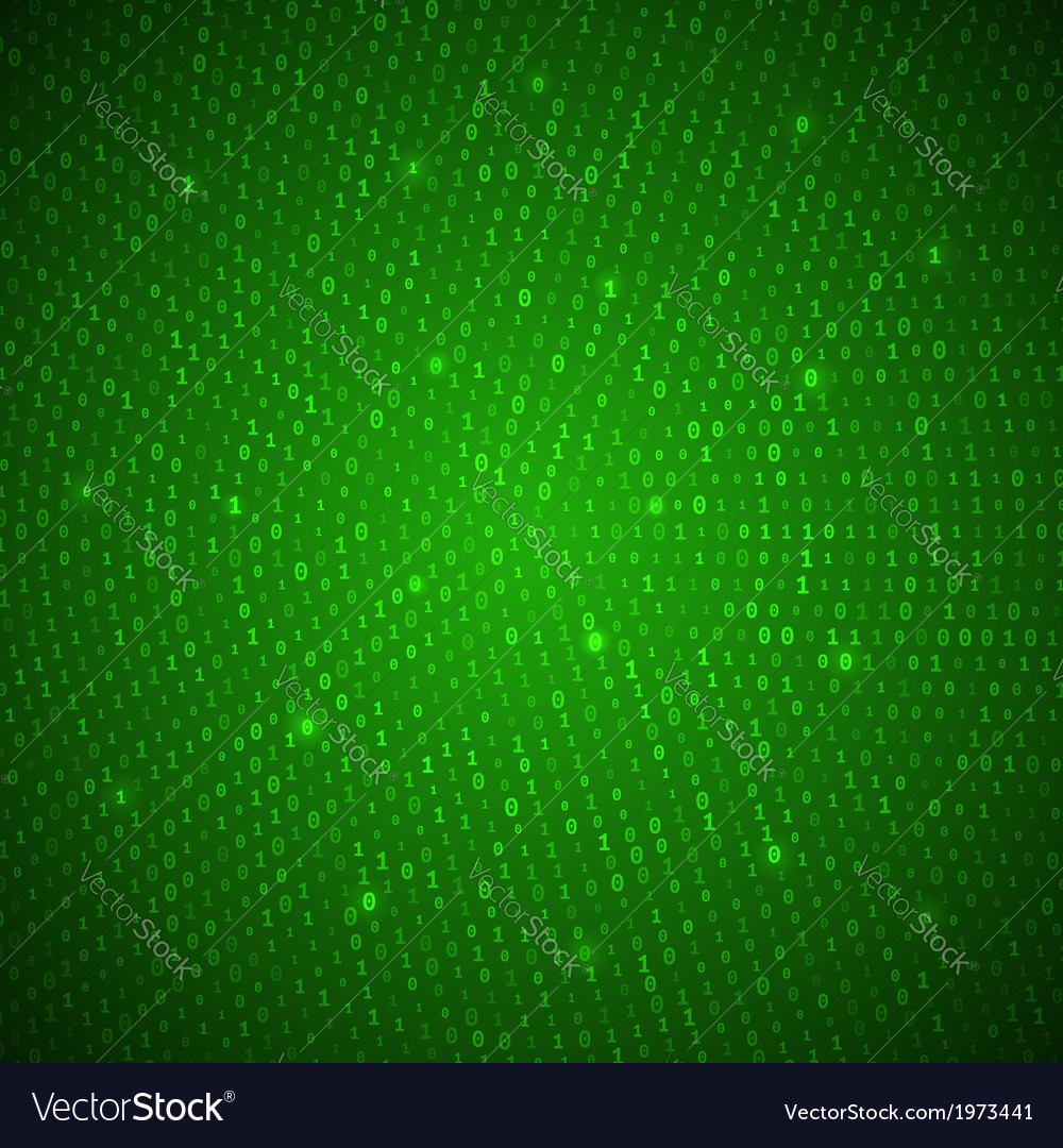 Abstract green binary background vector | Price: 1 Credit (USD $1)