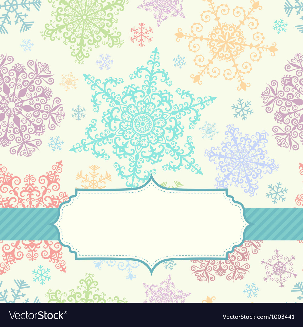 Background with multicolored snowflakes vector | Price: 1 Credit (USD $1)