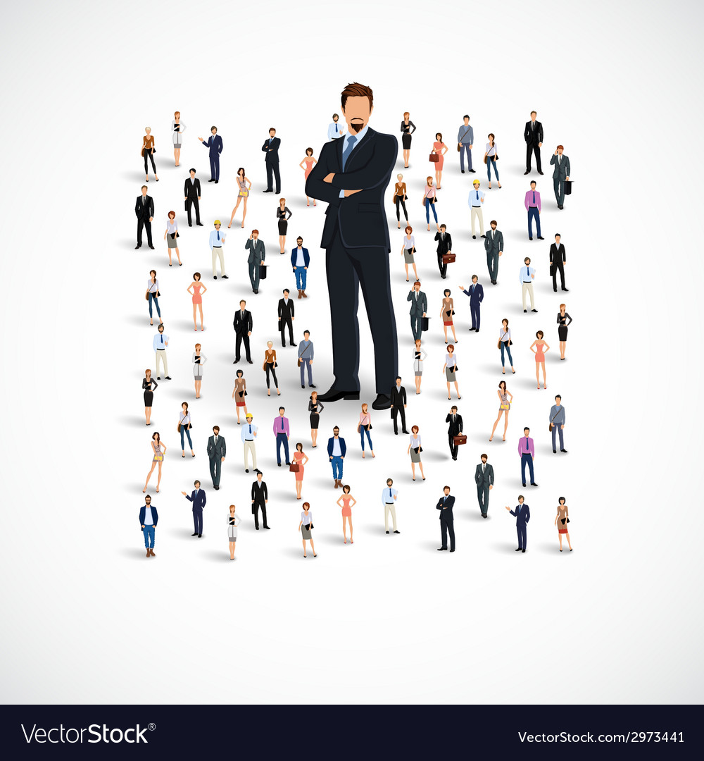 Business team group vector | Price: 1 Credit (USD $1)