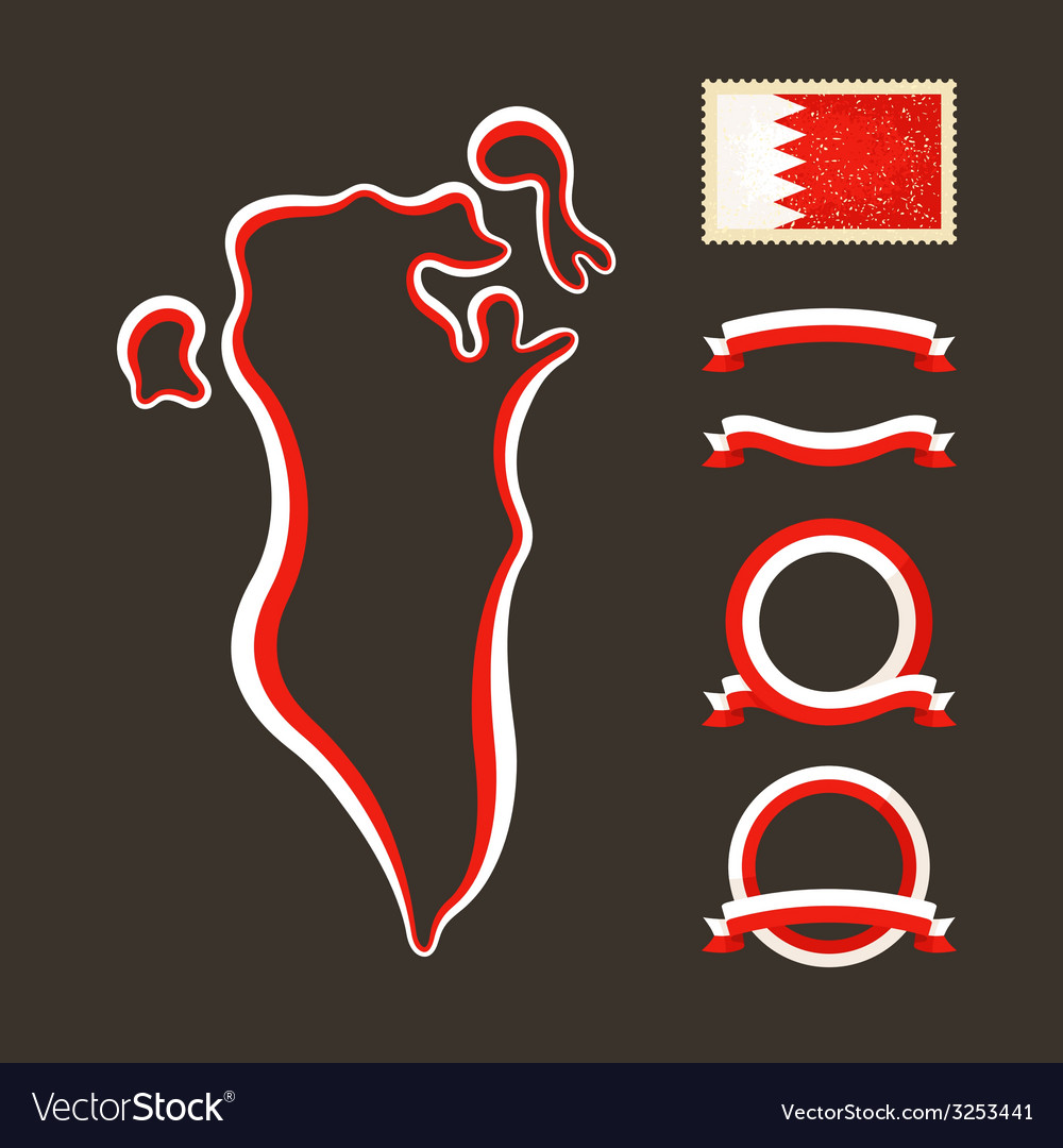 Colors of bahrain vector | Price: 1 Credit (USD $1)