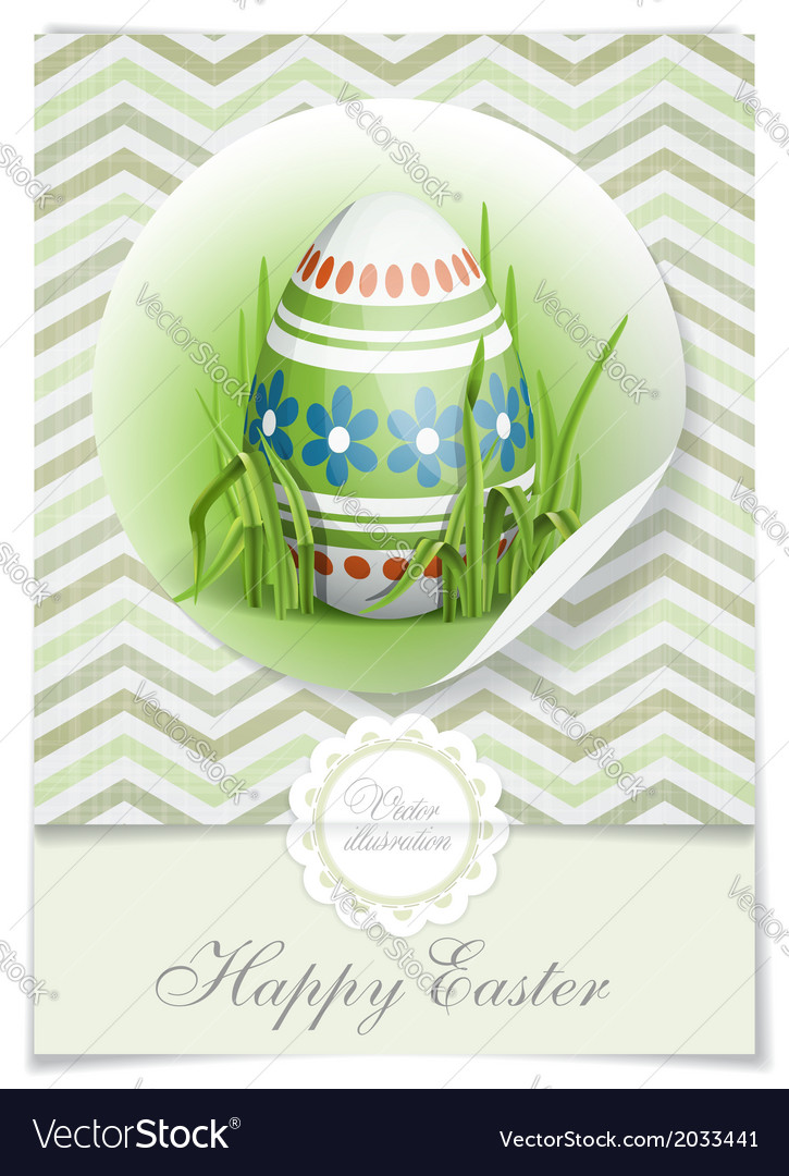 Easter background with eggs in grass vector | Price: 1 Credit (USD $1)