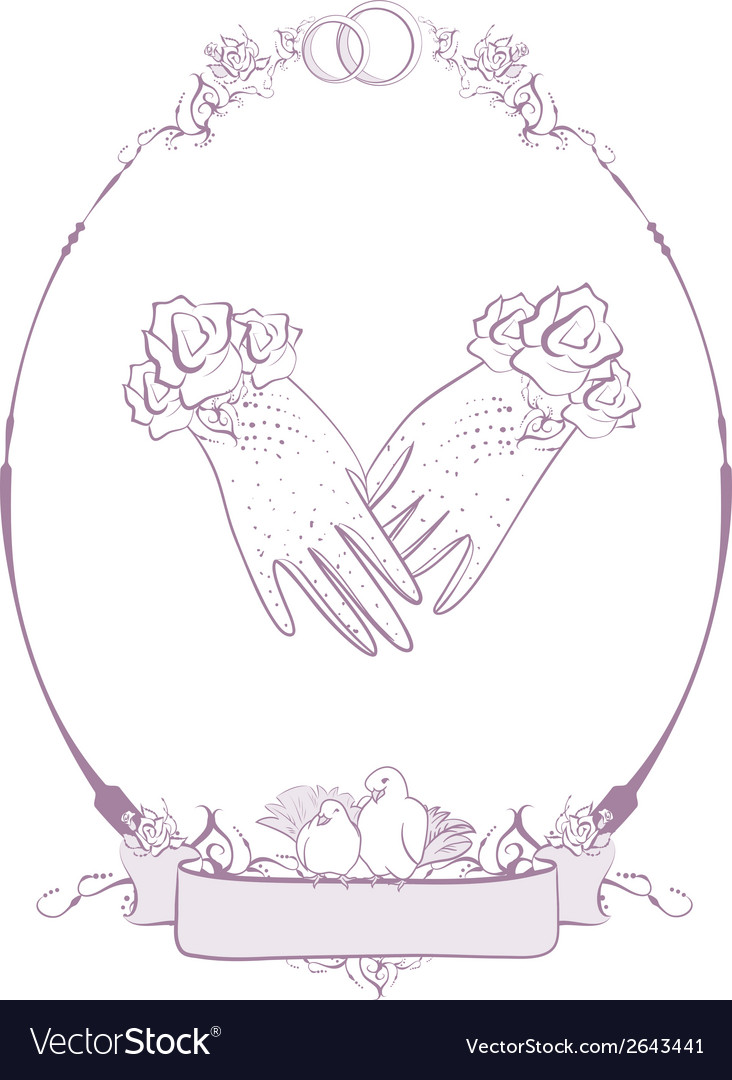 Gloves bride wedding accessories vector | Price: 1 Credit (USD $1)