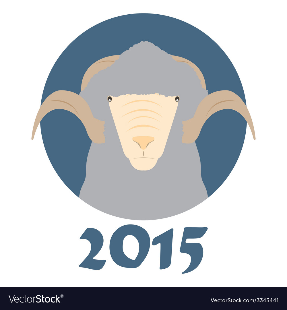 Goat symbol of the coming year vector   Price: 1 Credit (USD $1)