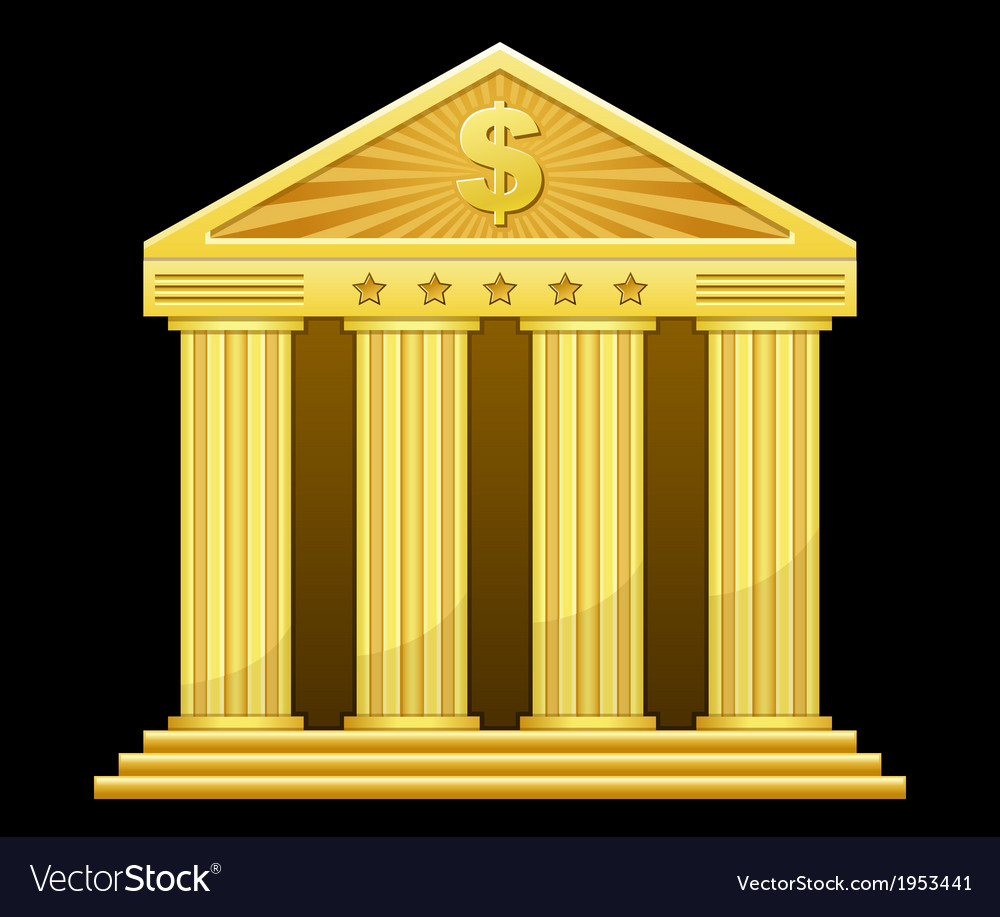 Gold bank vector | Price: 1 Credit (USD $1)