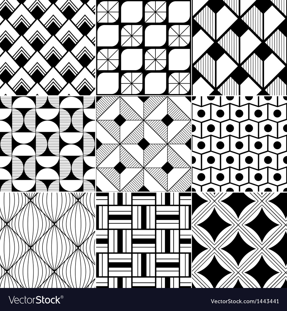 Monochrome abstract seamless background vector   Price: 1 Credit (USD $1)