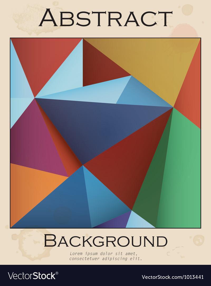 Retro colored background vector