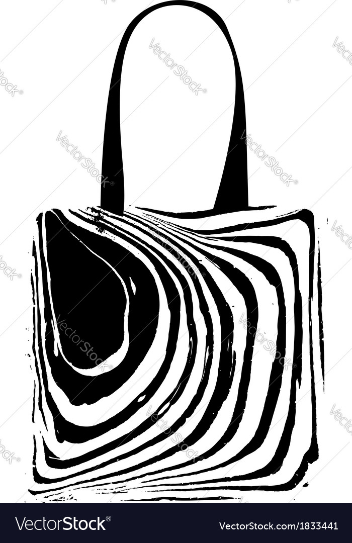 Shopping bag with zebra print for your design vector | Price: 1 Credit (USD $1)