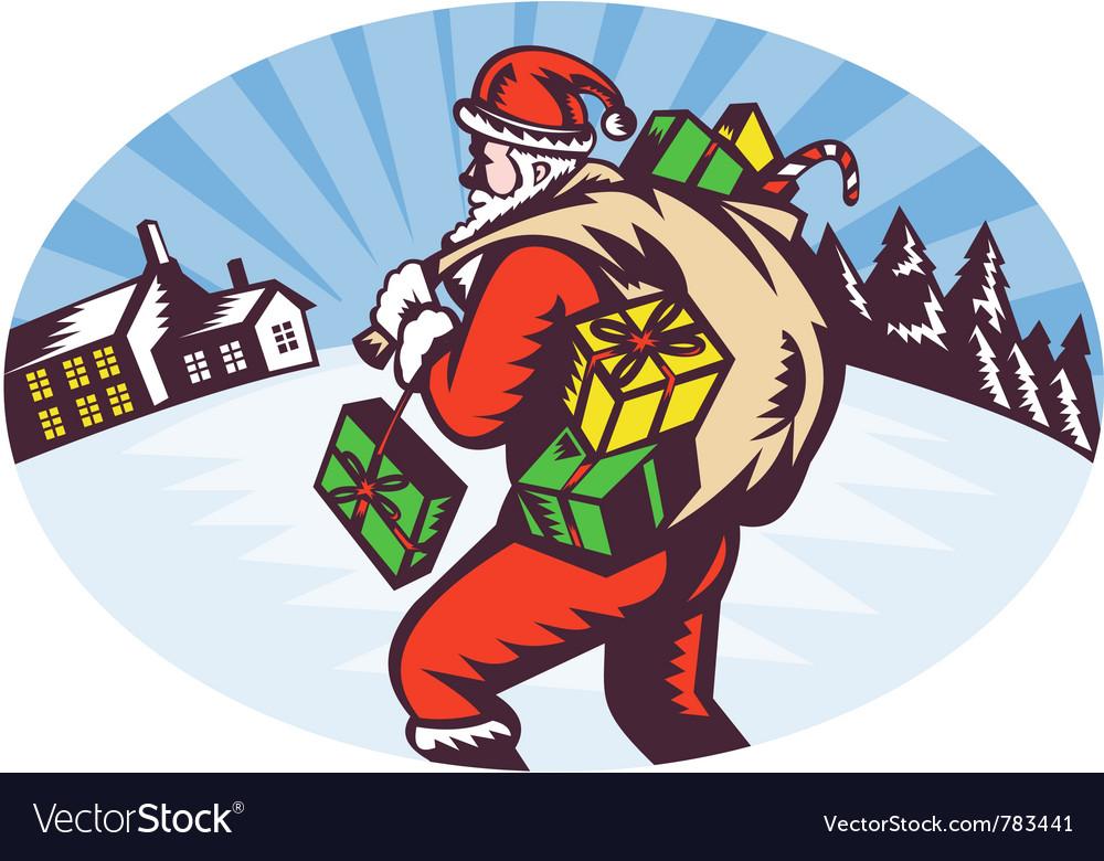 Snowing santa icon vector   Price: 1 Credit (USD $1)