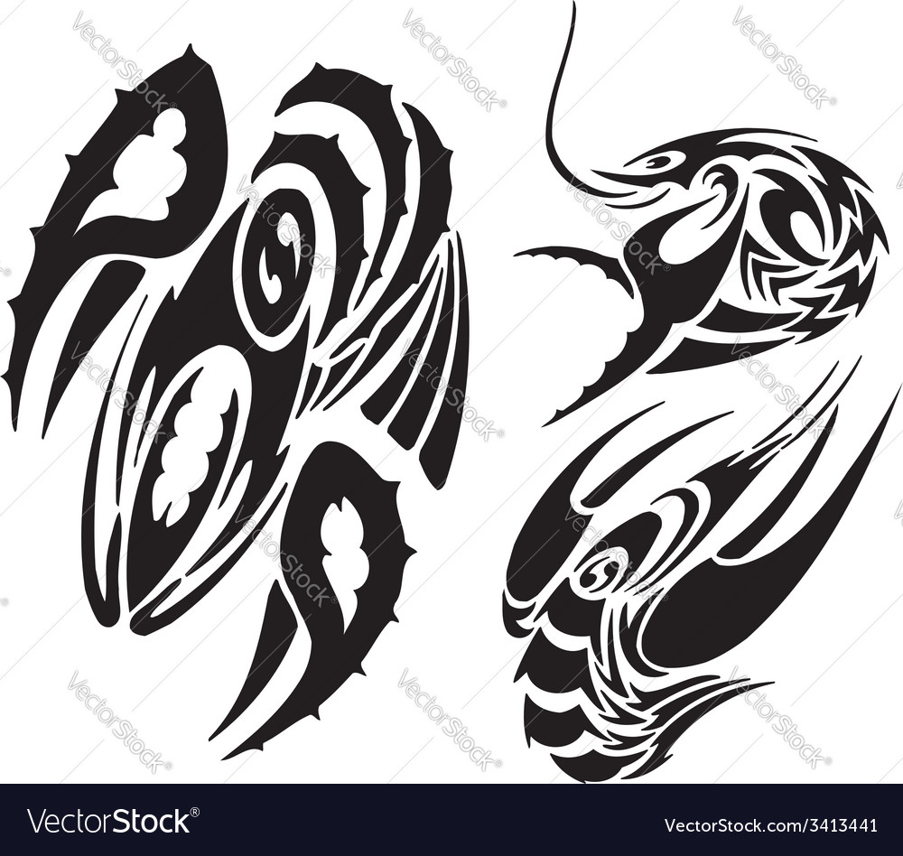 Zodiac signs - cancer vinyl-ready set vector | Price: 1 Credit (USD $1)