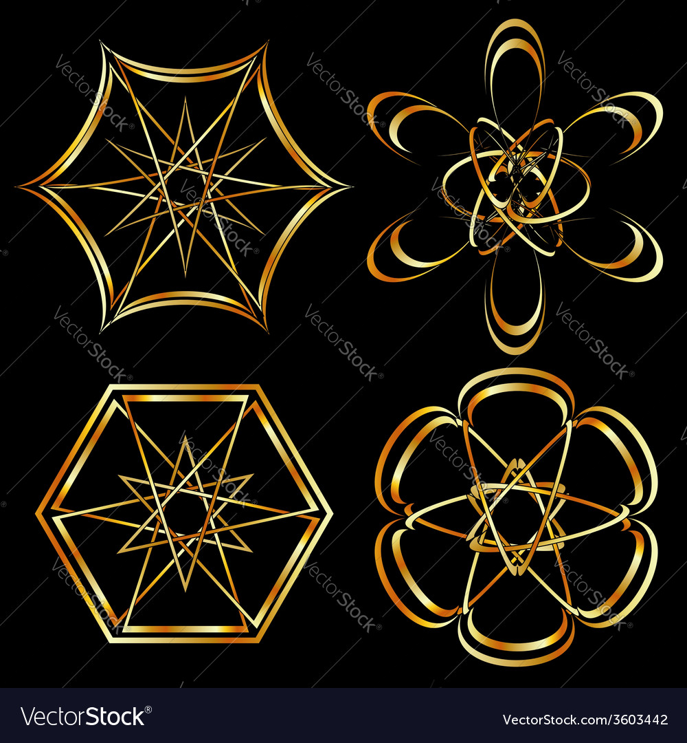 A set of celtic floral decoration or tattoo art vector | Price: 1 Credit (USD $1)