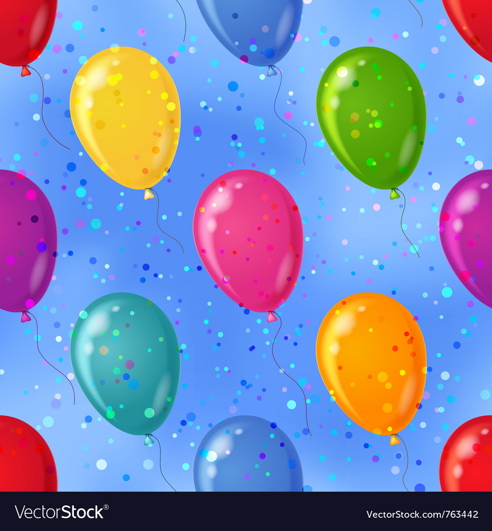 Balloon seamless background in sky vector | Price: 1 Credit (USD $1)
