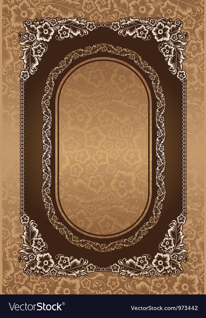 Beautiful floral on brown background vector | Price: 1 Credit (USD $1)