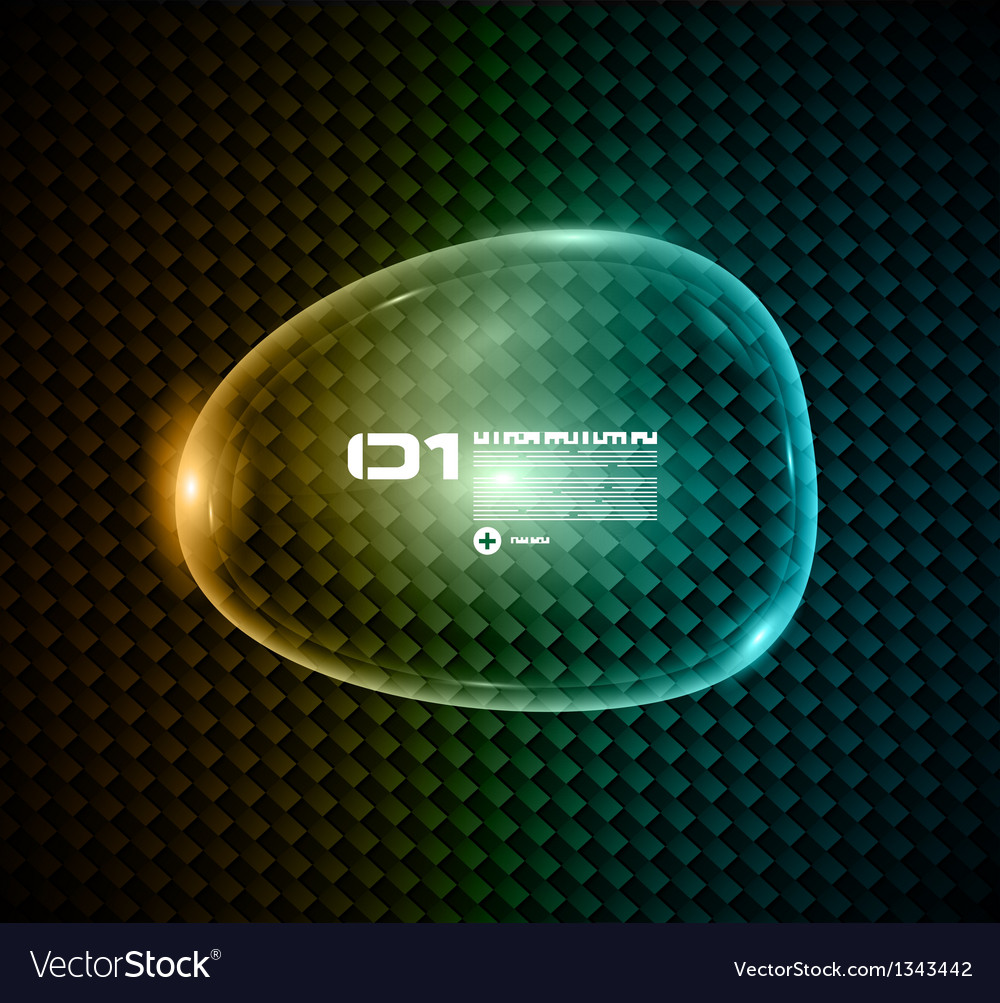 Bubble speech made of shiny glass vector | Price: 1 Credit (USD $1)