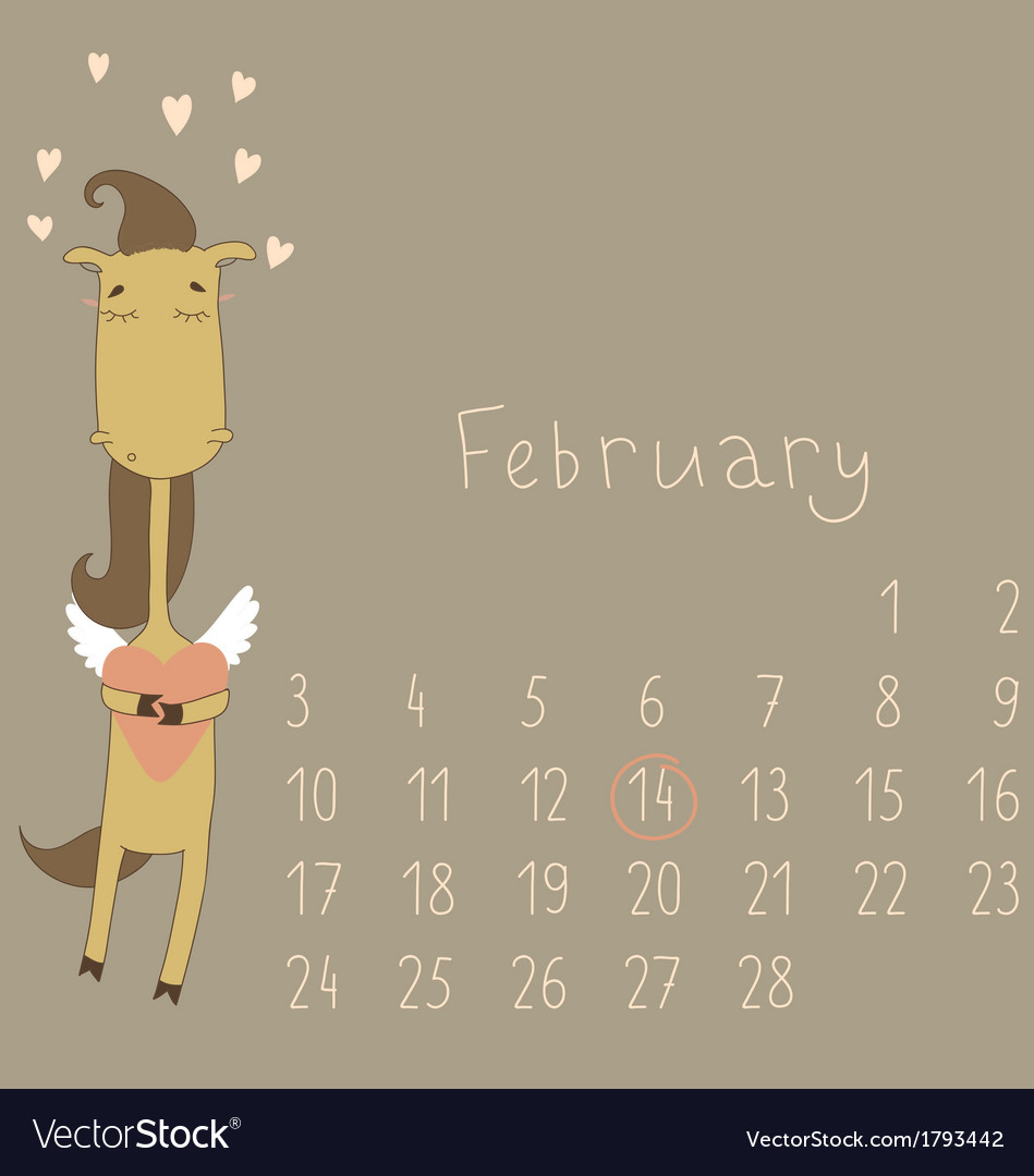 Calendar for february 2014 vector | Price: 1 Credit (USD $1)