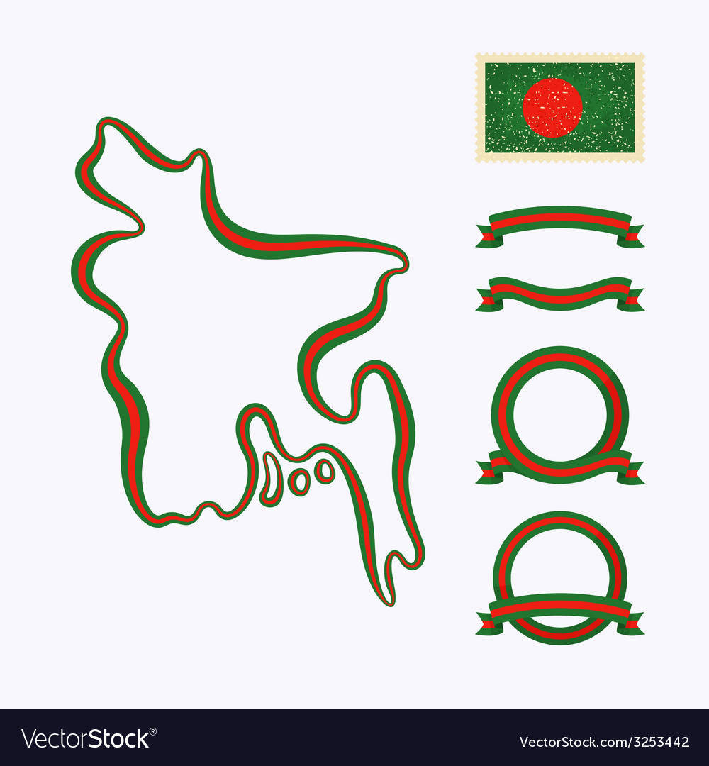 Colors of bangladesh vector | Price: 1 Credit (USD $1)