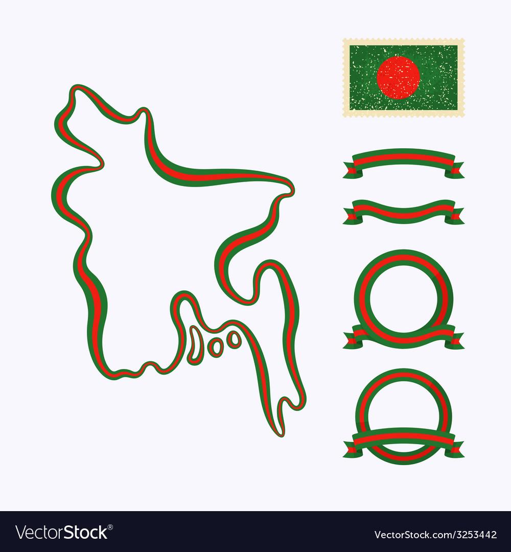 Colors of bangladesh vector | Price: 1 Credit (USD $1)