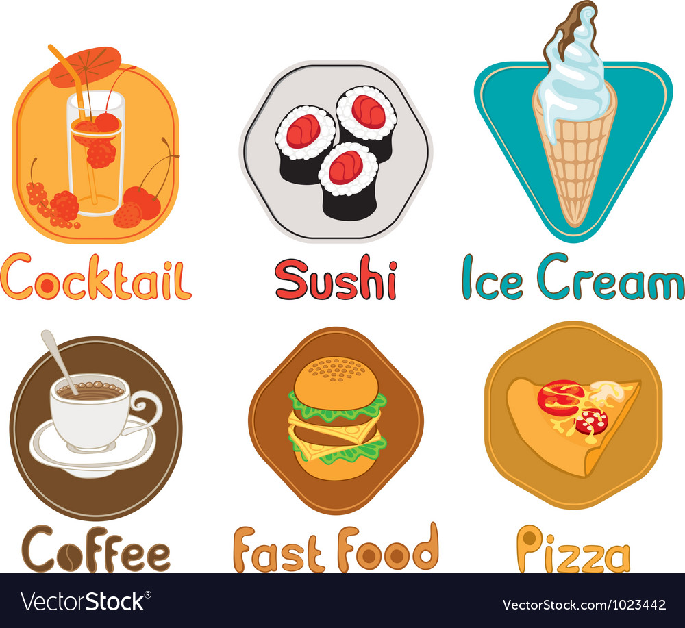 Different types of food vector | Price: 1 Credit (USD $1)