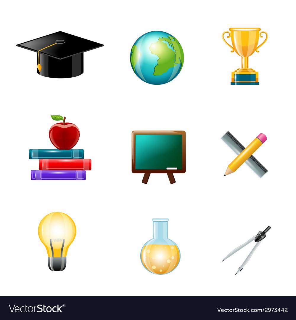 Education icon realistic vector | Price: 1 Credit (USD $1)