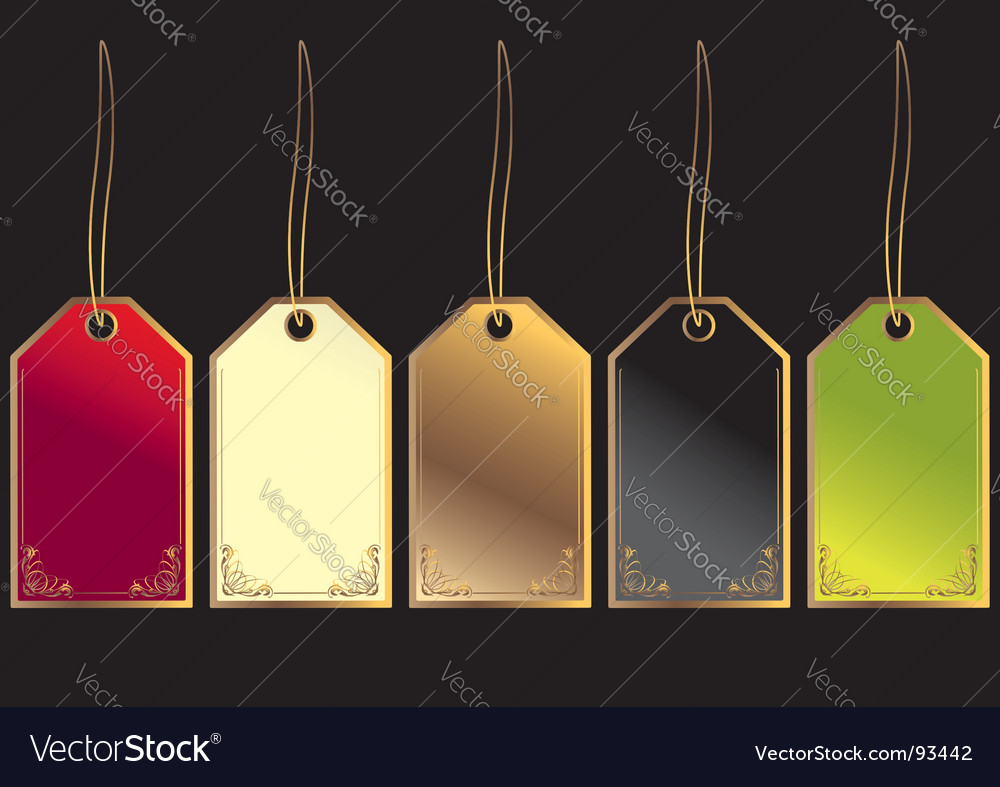 Gift tags vector | Price: 1 Credit (USD $1)