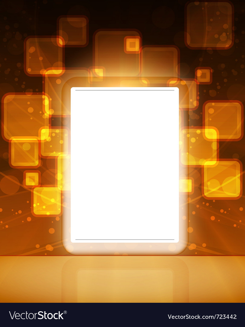 Lcd tablet vector | Price: 1 Credit (USD $1)