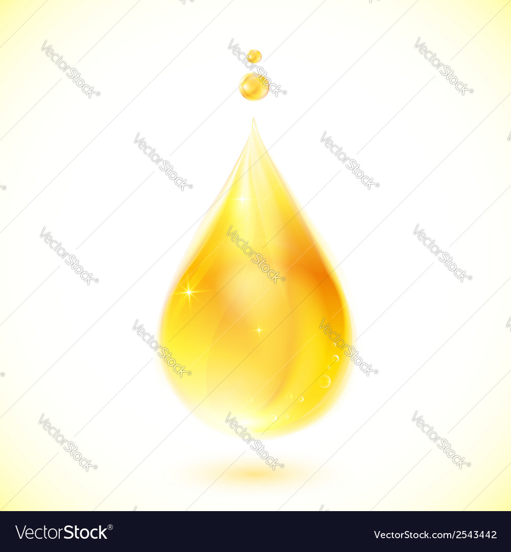 Realistic yellow oil drop vector | Price: 1 Credit (USD $1)