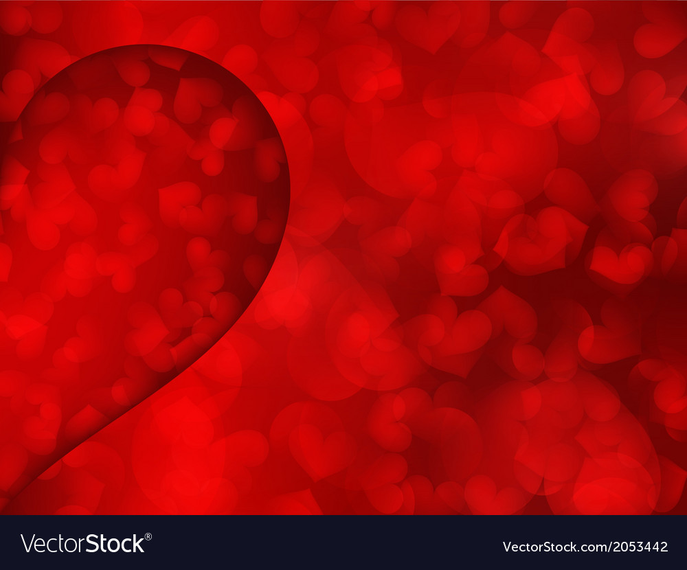 Red hearts as background vector | Price: 1 Credit (USD $1)