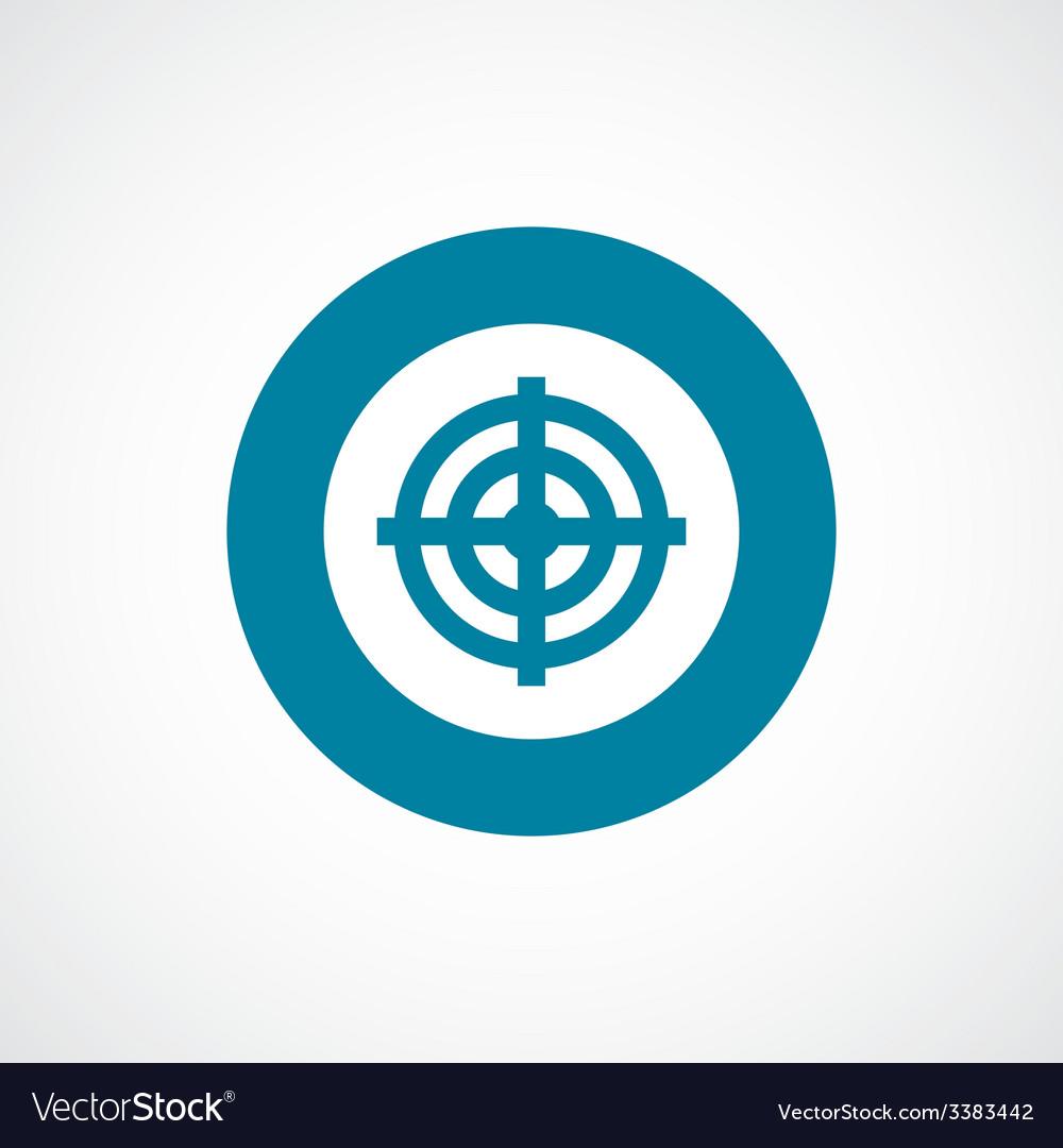 Target bold blue border circle icon vector   Price: 1 Credit (USD $1)