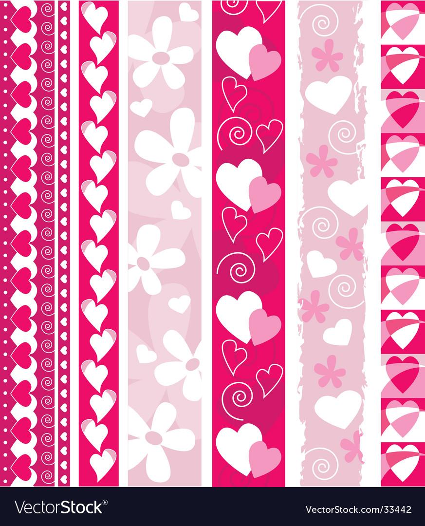 Valentine design border vector | Price: 1 Credit (USD $1)