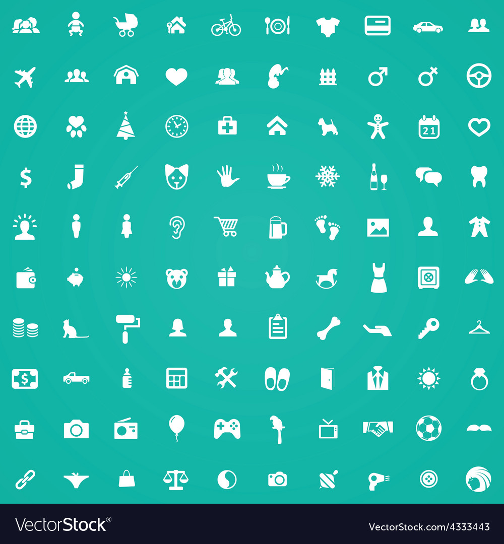 100 family icons vector | Price: 1 Credit (USD $1)