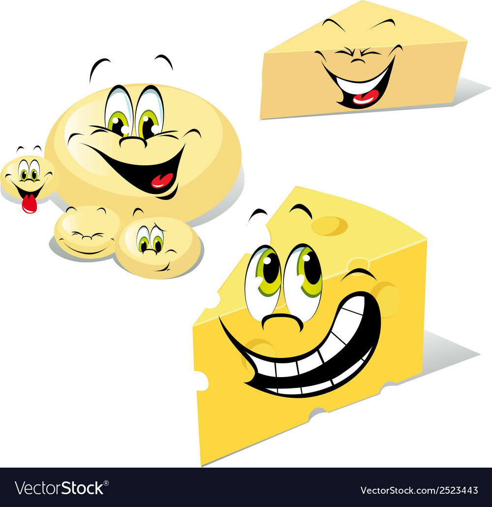 Cheeses cartoon vector | Price: 1 Credit (USD $1)