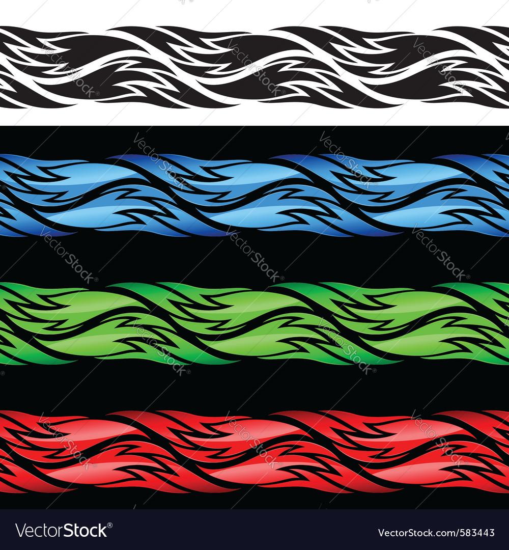 Color vintage pattern vector | Price: 1 Credit (USD $1)
