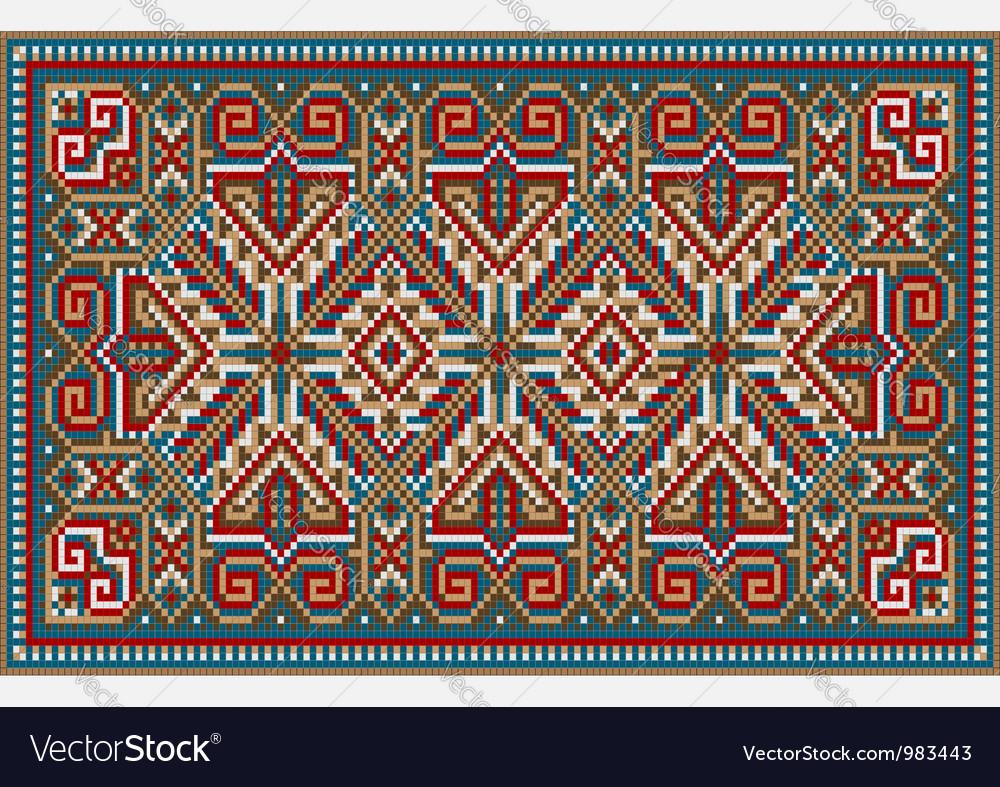 Design ethnic rug in bright colors vector | Price: 1 Credit (USD $1)