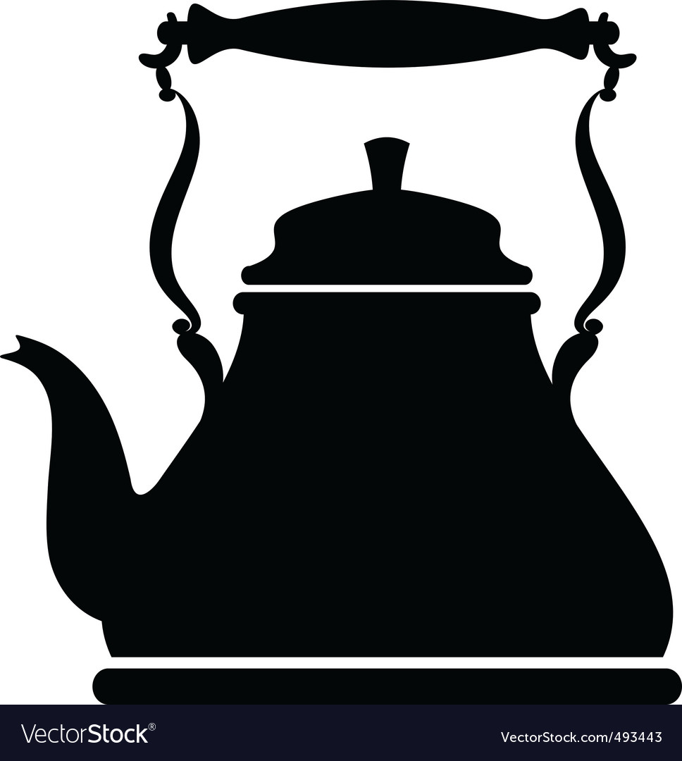Kettle silhouette vector | Price: 1 Credit (USD $1)