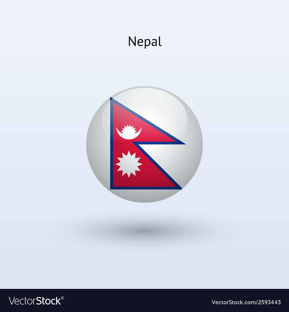 Nepal round flag vector   Price: 1 Credit (USD $1)