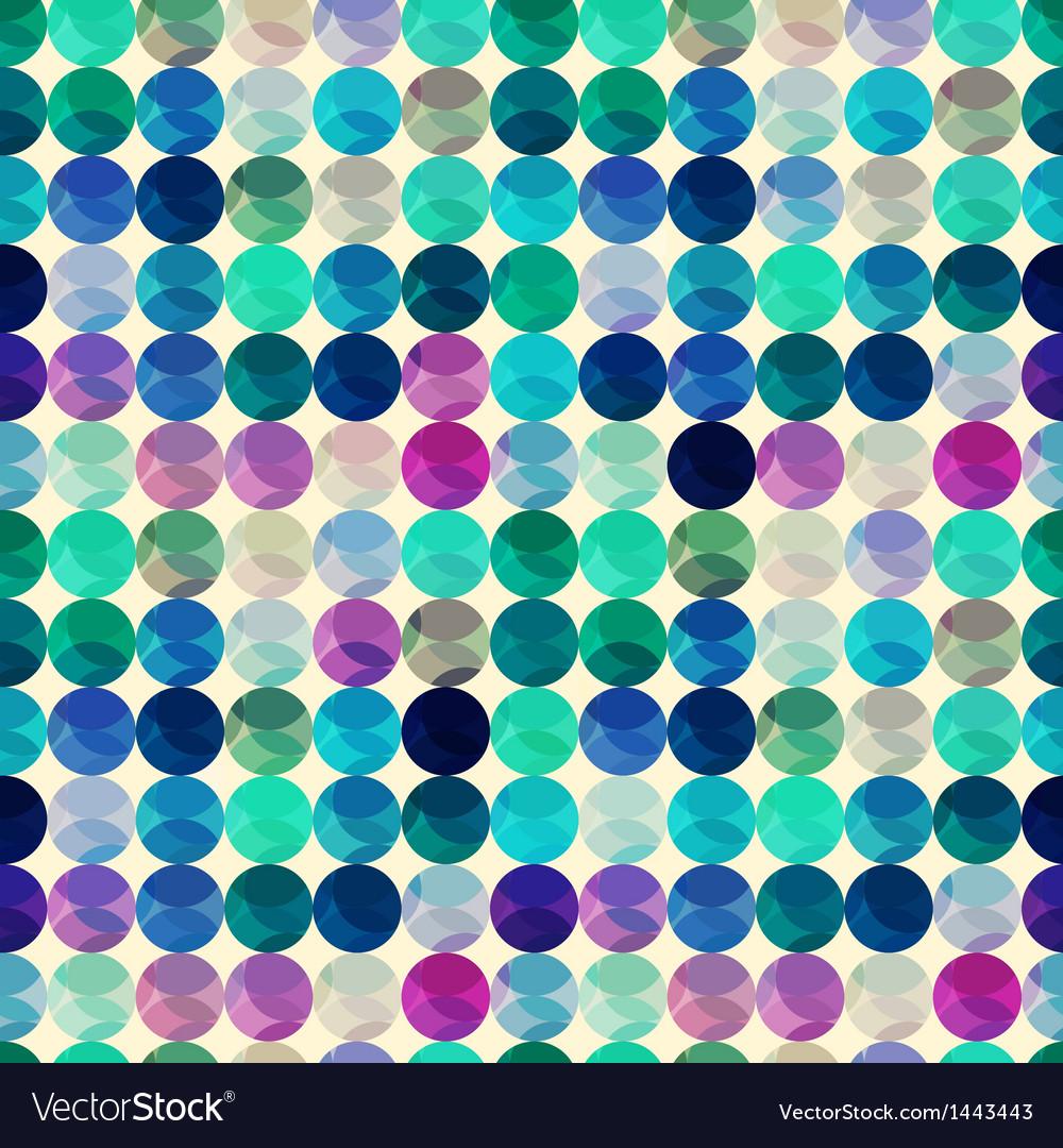 Seamless circle polka dots texture vector | Price: 1 Credit (USD $1)