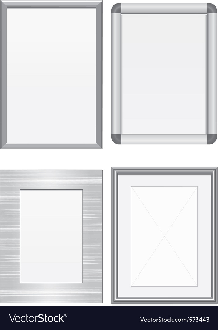 Set of metal frames vector | Price: 1 Credit (USD $1)