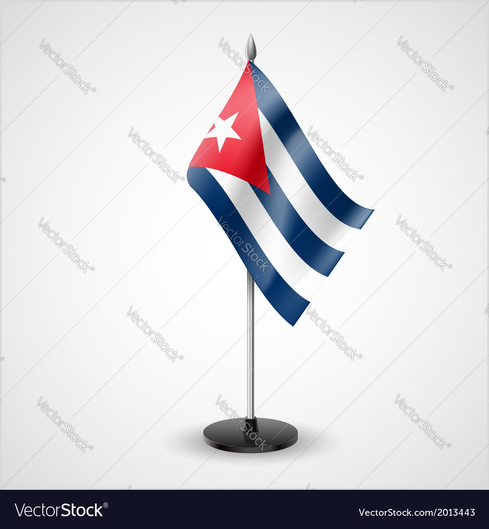 Table flag of cuba vector | Price: 1 Credit (USD $1)