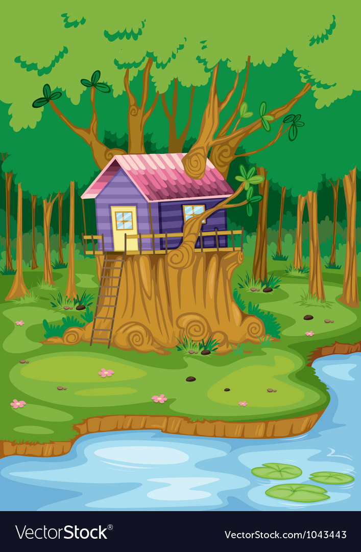 Tree house vector | Price: 3 Credit (USD $3)