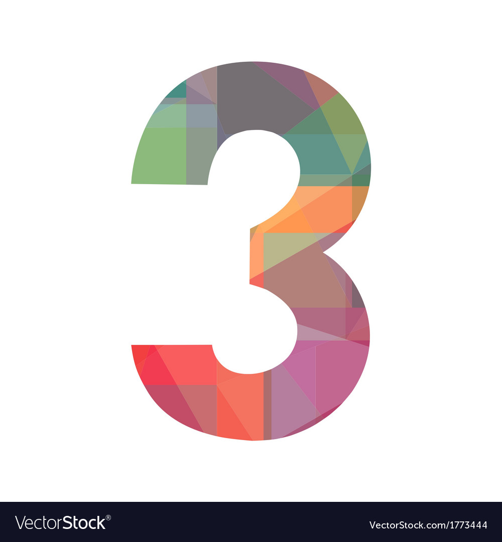 A colorful number three vector | Price: 1 Credit (USD $1)