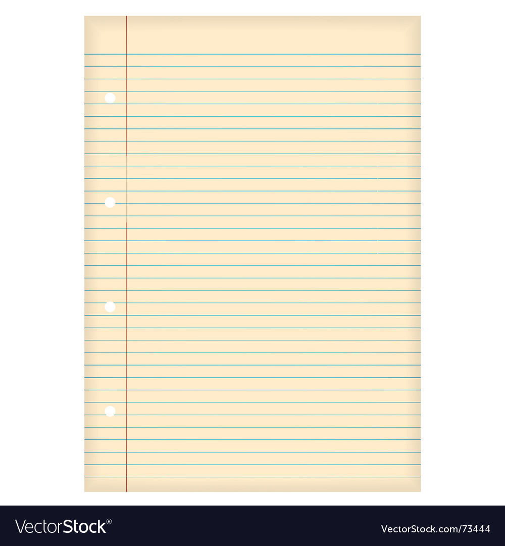 Aged lined paper vector | Price: 1 Credit (USD $1)