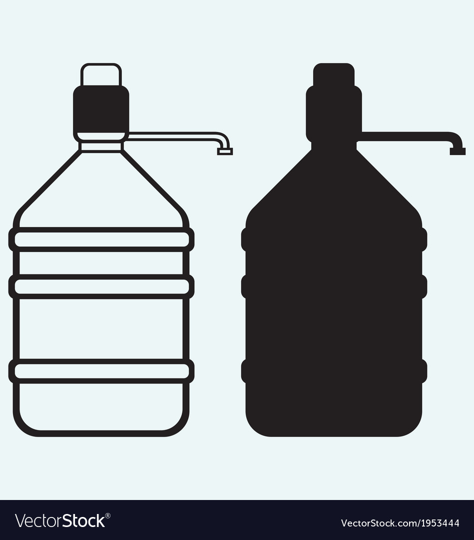 Bottle with clean water vector | Price: 1 Credit (USD $1)