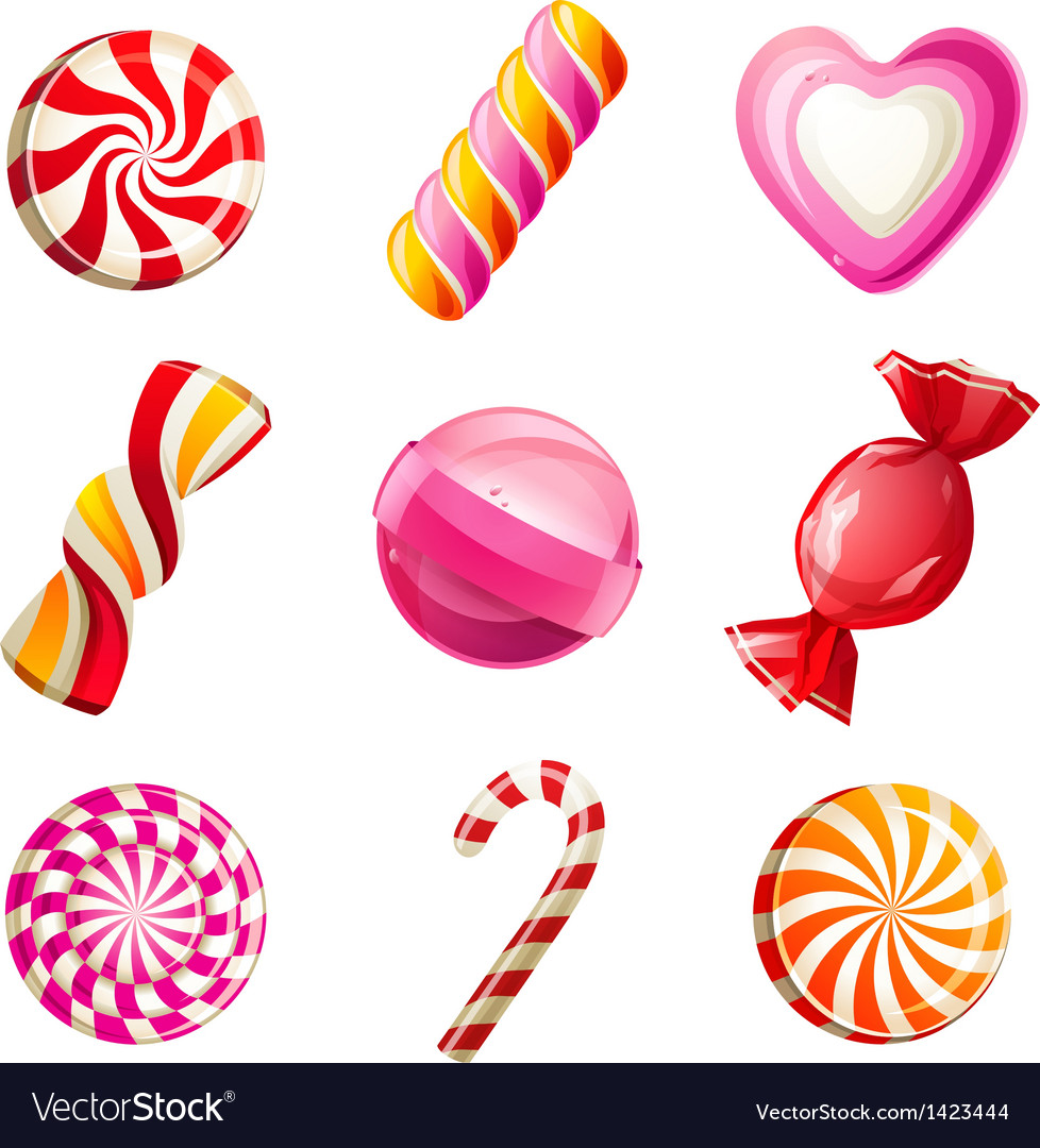 Candy set vector | Price: 1 Credit (USD $1)