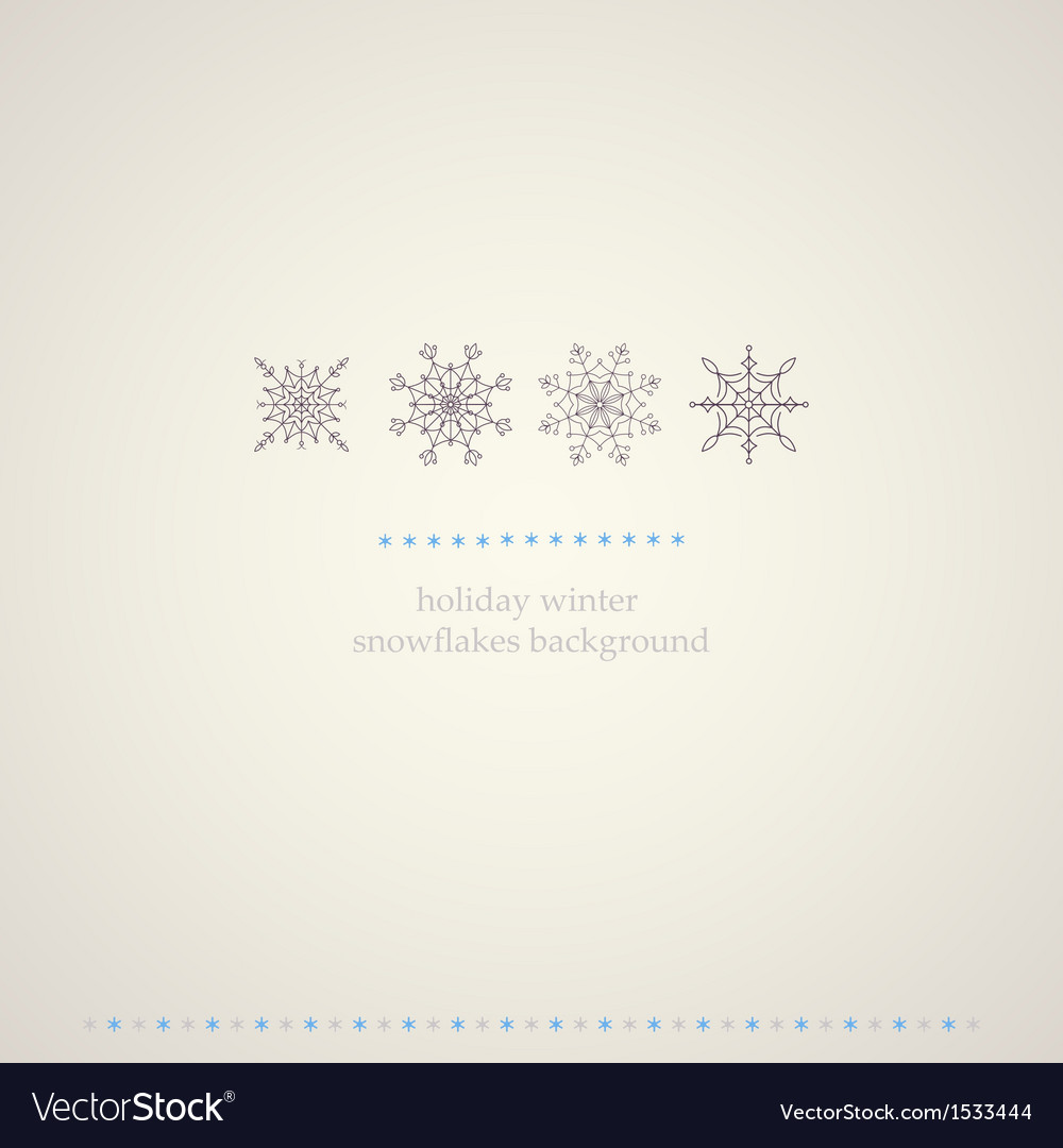 Decoration snowflakes winter background vector | Price: 1 Credit (USD $1)