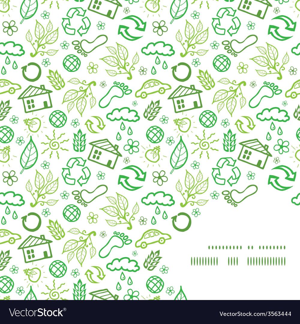 Ecology symbols frame corner pattern background vector | Price: 1 Credit (USD $1)