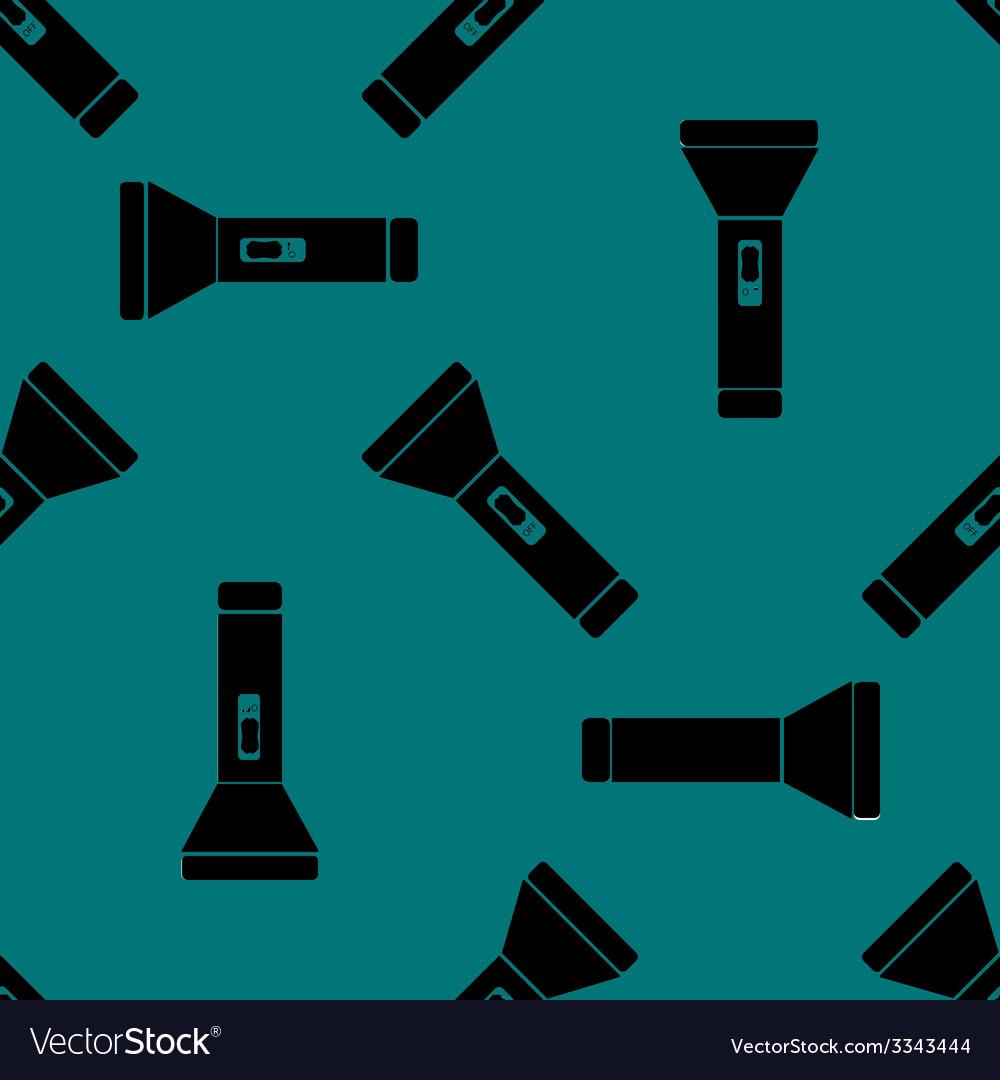 Flashlight web icon flat design seamless gray vector   Price: 1 Credit (USD $1)