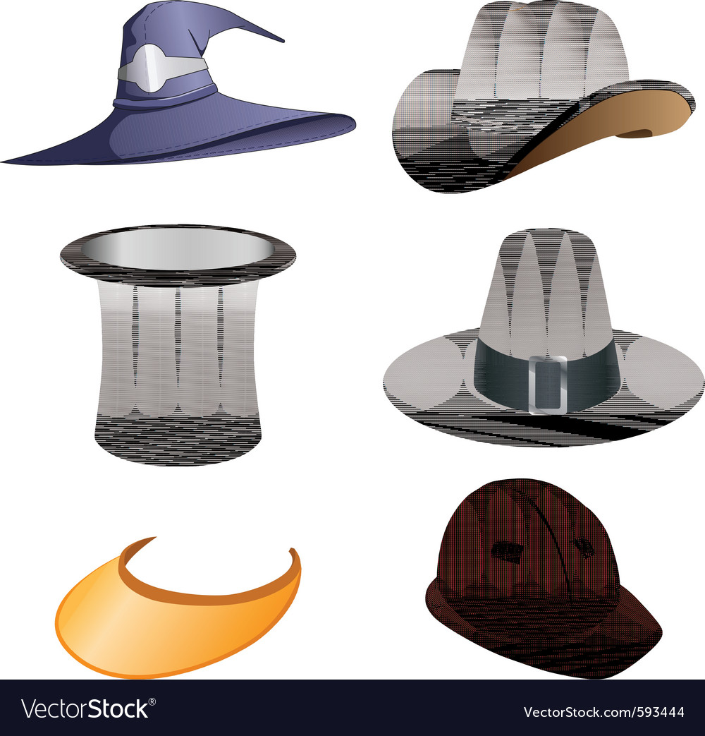 Hats set vector | Price: 3 Credit (USD $3)