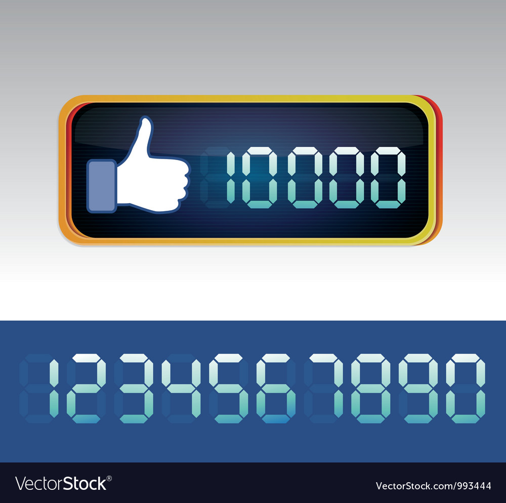 Like counter for social media page vector | Price: 1 Credit (USD $1)