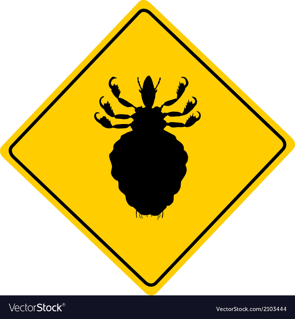 Louse warning sign vector | Price: 1 Credit (USD $1)